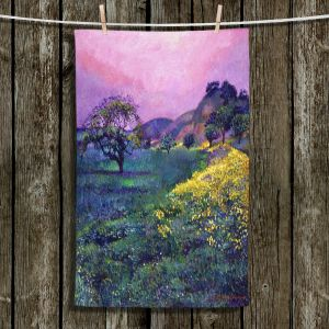 Unique Bathroom Towels | David Lloyd Glover - Wildflower Fields | landscape nature