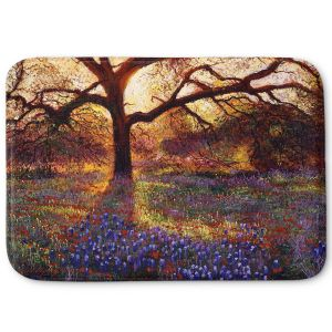 Decorative Bathroom Mats | David Lloyd Glover - Wildflower Meadow | landscape mountain nature