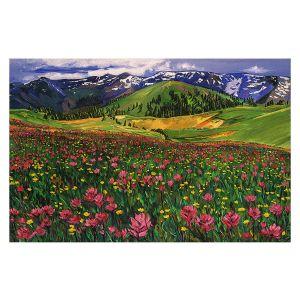 Decorative Floor Covering Mats | David Lloyd Glover - Wildflowers | landscape mountain nature