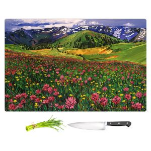 Artistic Kitchen Bar Cutting Boards | David Lloyd Glover - Wildflowers | landscape mountain nature