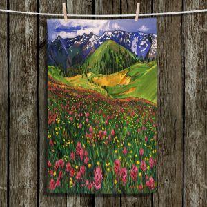 Unique Bathroom Towels | David Lloyd Glover - Wildflowers | landscape mountain nature