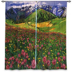Decorative Window Treatments   David Lloyd Glover - Wildflowers   landscape mountain nature