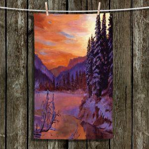 Unique Hanging Tea Towels | David Lloyd Glover - Winters Daybreak | landscape mountain nature