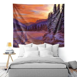 Artistic Wall Tapestry   David Lloyd Glover - Winters Daybreak   landscape mountain nature