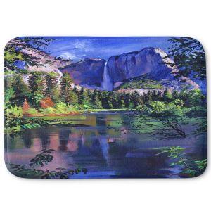Decorative Bathroom Mats | David Lloyd Glover - Yosemite Falls | landscape mountain nature