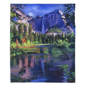Decorative Fleece Throw Blankets | David Lloyd Glover - Yosemite Falls | landscape mountain nature