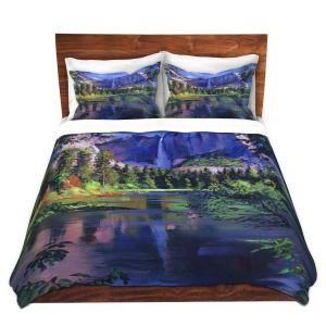 Artistic Duvet Covers and Shams Bedding | David Lloyd Glover - Yosemite Falls | landscape mountain nature