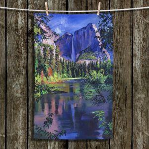 Unique Bathroom Towels | David Lloyd Glover - Yosemite Falls | landscape mountain nature