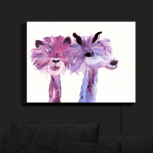 Nightlight Sconce Canvas Light | Dawn Derman - 2 Alpacas | Mountain Animals
