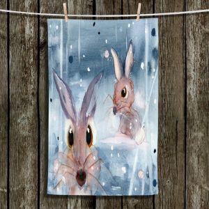 Unique Hanging Tea Towels | Dawn Derman - 2 Snow Bunnies