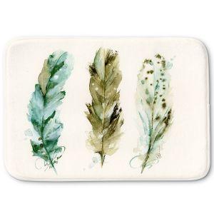 Decorative Bathroom Mats | Dawn Derman - 3 Feathers | Bird Feathers