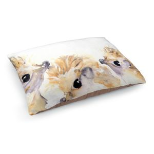 Decorative Dog Pet Beds | Dawn Derman - 3 Hedgehogs | Nature creatures animals small children cute