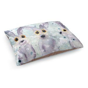 Decorative Dog Pet Beds   Dawn Derman - 3 Snow Rabbits   Bunnies