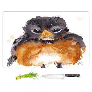 Artistic Kitchen Bar Cutting Boards | Dawn Derman - American Robin | Nature Bird