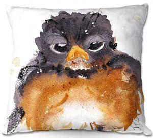 Throw Pillows Decorative Artistic | Dawn Derman - American Robin | Nature Bird