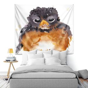 Artistic Wall Tapestry | Dawn Derman - American Robin | Nature Bird