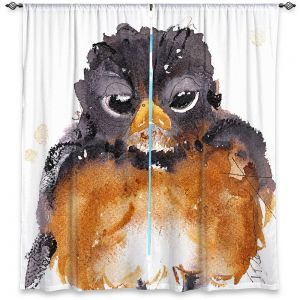 Decorative Window Treatments | Dawn Derman - American Robin | Nature Bird