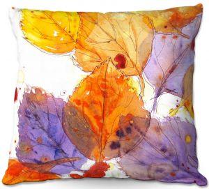 Decorative Outdoor Patio Pillow Cushion | Dawn Derman - Anticipating Autumn