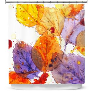 Premium Shower Curtains | Dawn Derman - Anticipating Autumn