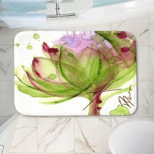 Decorative Bathroom Mats | Dawn Derman - Artichoke Flower