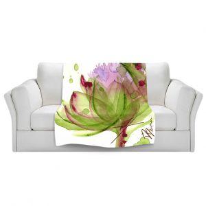 Unique Sherpa Blankets from DiaNoche Designs by Dawn Derman - Artichoke Flower