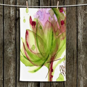 Unique Bathroom Towels | Dawn Derman - Artichoke Flower