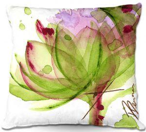Unique Throw Pillows from DiaNoche Designs by Dawn Derman - Artichoke Flower   18X18
