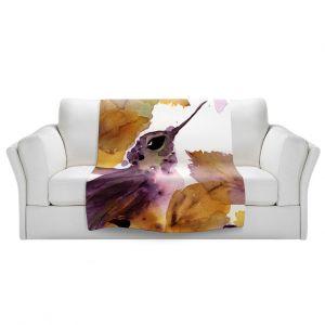 Artistic Sherpa Pile Blankets | Dawn Derman - Autumn Hummingbird