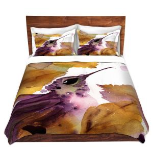 Artistic Duvet Covers and Shams Bedding | Dawn Derman - Autumn Hummingbird