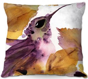 Throw Pillows Decorative Artistic | Dawn Derman - Autumn Hummingbird