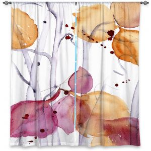 Unique Window Curtains Lined 80w x 52h from DiaNoche Designs by Dawn Derman - Autumn Leaves