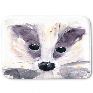 Decorative Bathroom Mats | Dawn Derman - Badger | Nature creatures animals small children cute