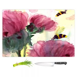 Artistic Kitchen Bar Cutting Boards | Dawn Derman - Bees in the Wildflowers