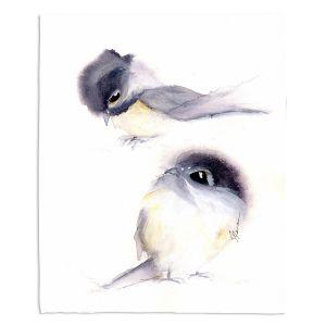 Decorative Fleece Throw Blankets | Dawn Derman - Behind You | Animals Birds Nature
