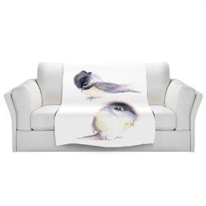 Artistic Sherpa Pile Blankets | Dawn Derman - Behind You | Animals Birds Nature