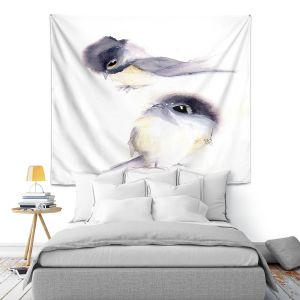Artistic Wall Tapestry   Dawn Derman - Behind You   Animals Birds Nature