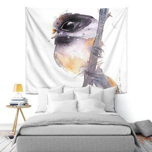 Artistic Wall Tapestry   Dawn Derman - Black Capped Chickadee   Nature bird