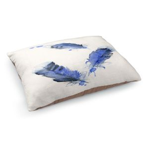 Decorative Dog Pet Beds | Dawn Derman - Blue Jay Feathers | Blue Bird