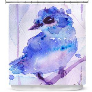 Premium Shower Curtains | Dawn Derman - Bluebelle