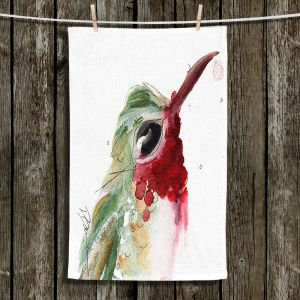 Unique Hanging Tea Towels | Dawn Derman - Broadtail Hummer | Nature bird