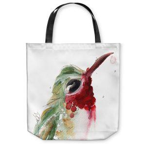 Unique Shoulder Bag Tote Bags | Dawn Derman - Broadtail Hummer | Nature bird