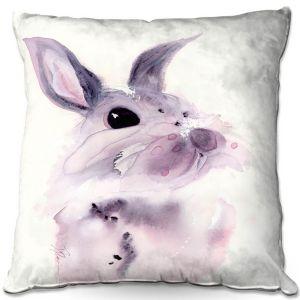 Throw Pillows Decorative Artistic | Dawn Derman - Bunny Rabbit 1 | Animals Nature
