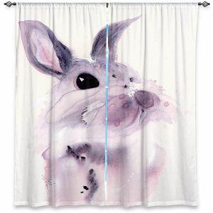 Decorative Window Treatments | Dawn Derman - Bunny Rabbit 1 | Animals Nature