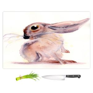Artistic Kitchen Bar Cutting Boards | Dawn Derman - Bunny Rabbit 3 | Animals Nature