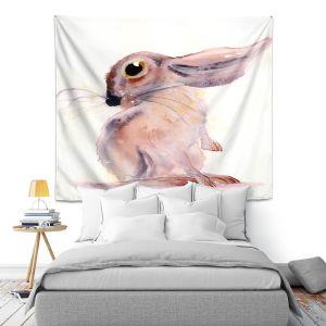 Artistic Wall Tapestry   Dawn Derman - Bunny Rabbit 3   Animals Nature