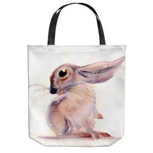 Unique Shoulder Bag Tote Bags | Dawn Derman - Bunny Rabbit 3 | Animals Nature