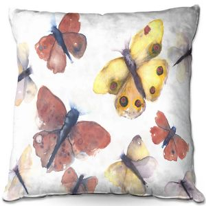 Decorative Outdoor Patio Pillow Cushion | Dawn Derman - Butterflies | Insects Nature