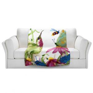 Artistic Sherpa Pile Blankets | Dawn Derman - Calliope Coneflower