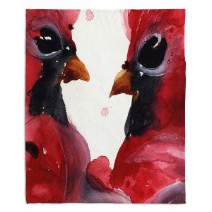 Decorative Fleece Throw Blankets | Dawn Derman - Cardinals