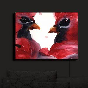 Nightlight Sconce Canvas Light | Dawn Derman - Cardinals